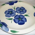 PIER 1 CERAMIC HANDPAINTED PLATE WHITE GLAZE WITH VIOLETS MADE IN ITALY