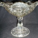VINTAGE L.E.SMITH BEAUTIFUL COMPOTE PEDESTAL FRUIT VASE BOWL