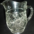 VINTAGE L.E.SMITH CUT GLASS SMALL JUICE WATER PITCHER