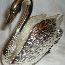 BEAUTIFUL TABLE DECOR SILVERPLATED FIGURAL SWAN NAPKIN HOLDER BY GODINGER