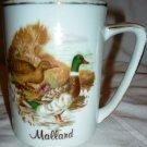 VINTAGE PORCELAIN COFFEE TEA MUG CUP HANDPAINTED DUCK MALLARD