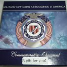 COMMEMORATIVE CHRISTMAS ORNAMENT MILITARY OFFICERS ASSOCIATION OF AMERICA MOAA