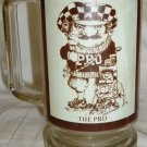 HUMOROUS GLASS BEER STEIN CARTOON THE PRO BY GARY PATTERSON THOUGHT FACTORY