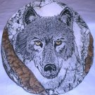 SHAPES OF CLAY STAN LANGTWAIT WALL PLAQUE ENDANGERED SPECIES NORTH AMERICAN WOLF