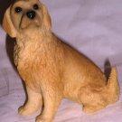 CHARMING HARD RESIN PUPPY DOG YELLOW LABRADOR GOLDEN RETRIEVER FIGURINE