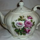 PORCELAIN TEAPOT HANDPAINTED FLOWERS MUSIC BOX 'THE WAY WE WERE' JAPAN