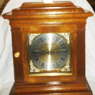 WESTMINSTER MANTEL CLOCK BY TAKANE JAPAN INCASED IN WALNUT W/BRASS ACCENTS