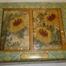 PUNCH STUDIOUS TWO DECK PLAYING CARD SET SUNFLOWERS DESIGN NM GIFT
