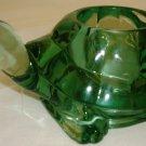BEAUTIFUL INDIANA GREEN GLASS VOTIVE CANDLEHOLDER TURTLE FIGURINE