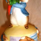 PETER RABBIT COLLECTION REVOLVING MUSIC BOX 'PETER RUN WITH A HOP A1329 NMB GIFT