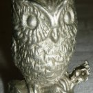 CHARMING MINIATURE PEWTER OWL BIRD FIGURINE DOLLHOUSE MINIATURE DESIGN