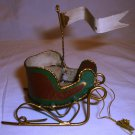 CHRISTMAS DECORATION BY SILVESTRI SLED ORNAMENT