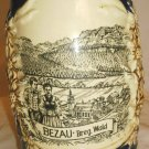 VINTAGE GERZ GERMANY STONEWARE CERAMIC BEER STEIN TANKARD BEZAU BREG. WALD