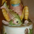 SCHMID ROTATING MUSIC BOX BEATRIX POTTER JEREMY FISHER FROG DOWN OLD MILL STREAM