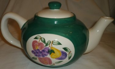 CERAMIC HANDPAINTED CULINARY COLLECTION CERAMIC FLOWERS TEAPOT