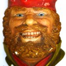 VINTAGE LEGEND PRODUCTS ENGLAND CHALKWARE SCULPTURED WALL HEAD MASK LITTLE JOHN