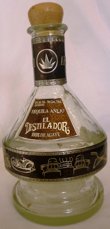 Collectible unique liquor bottle tequila anejo el destilador - Uses for empty liquor bottles ...