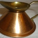 VINTAGE DOLLHOUSE MINIATURE COPPER WATER PITCHER SET OF 2