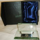 EXECUTIVE DESK TOP CLEAR BLOCK CRYSTAL BUSINESS CARD HOLDER NMB