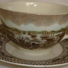 HISTORIC AMERICA CUP/SAUCER JOHNSON BROS.ENGLAND SAN FRANCISCO DURING GOLD RUSH