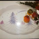"STIDIO NOVA ART GLASS STARLIGHT CHRISTMAS TREE 15"" TRAY"
