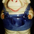 VINTAGE 1980 ENESCO PIG COUNTY FAIR JEM JELLO JAR LIDDED SUGAR BOWL