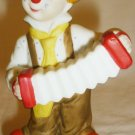 CHARMING LEFTON EXECUTIVE CHINA BISQUE PORCELAIN CLOWN WITH HARMONICA FIGURINE