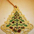 BEAUTIFUL LENOX CHINA PORCELAIN CHRISTMAS TREE COLOROFUL ORNAMENT NMB