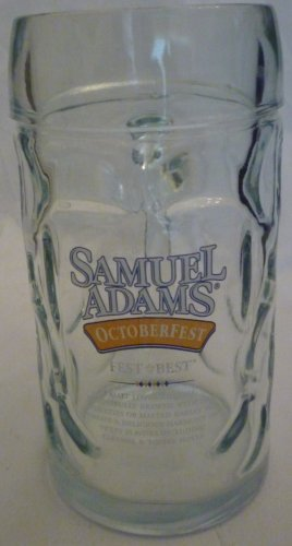 FEST & BEST SAMUEL ADAMS BEER DIMPLED GLASS STEIN MUG OCTOBERFEST
