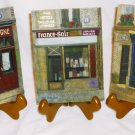CHIU TAK HAK 3D HARD RESIN DECORATIVE TILES FRENCH STREET STORE FRONTS SET/3 +ST