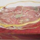 BEAUTIFUL MIKASA 3D CLEAR GLASS ANGEL SONG GOLD TRIM SWEET DISH JAPAN NMB CHRISTMAS