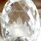 STUNNING LASER CUT HOLY TRINITY CATHEDRAL ST.PETERSBURG RUSSIA CRYSTAL EGG