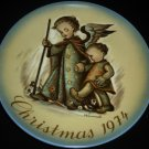SCHMID SISTER BERTA HUMMEL COLLECTIBLE PORCELAIN PLATE CHRISTMAS 1974 W.GERMANY
