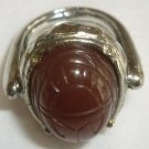 UNIQUE VINTAGE RING BROWN YELLOW STONE