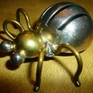 BEAUTIFUL SILVER .925 TP-65 BEETLE BUG PIN BROOCH MEXICO
