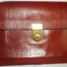 VINTAGE HIGH QUALITY LEATHER MEN'S HAND BAG CLUTCH PURSE WESTERN GERMANY LOCK