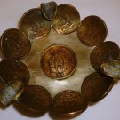 UNIQUE HANDCRAFTED GENUINE MEXICAN COIN ASHTRAY