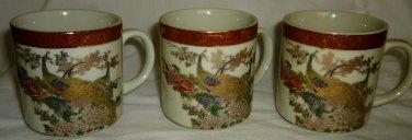 VINTAGE JAPAN CERAMIC SATSUMA HANDPAINTED GILDED COFFEE TEA MUG HERITAGE MINT 3