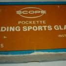 VINTAGE SCOPE POCKETTE FOLDING SPORTS OPERA GLASSES INSTAFOCUS MADE IN JAPAN