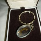 VINTAGE CLEAR LUCITE SPORTS CRYSTAL GOLF KEYCHAIN KEY TAG BY CLOISART