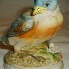 VINTAGE LEFTON CHINA EASTERN BLUE BIRD BISQUE PORCELAIN FIGURINE JAPAN KW 1637
