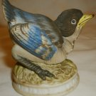 VINTAGE LEFTON CHINA BLUEBIRD BLUE BIRD BISQUE PORCELAIN FIGURINE JAPAN KW 1637