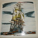 VINTAGE DECORATIVE PORCELAIN TILE HANDPAINTED THE BOUNTY SAILBOAT MADE IN JAPAN