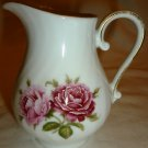 VINTAGE PORCELAIN BY AK KAISER MOOSTOSE WEST GERMANY MOSS ROSE MINIATURE PITCHER