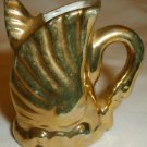VINTAGE MINIATURE DOLLHOUSE GOLD PAINTED FISH PORCELAIN PITCHER JAPAN