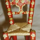 VINTAGE DOLLHOUSE HANDPAINTED WOODEN ROPE CHAIR