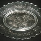CLEAR PRESSED GLASS AVON BICENTENNIAL 1776-1976 OVAL DISH PLATE AMERICANA/EAGLE