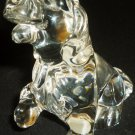 CHARMING CRYSTAL GLASS BASSET HOUND PUPPY DOG FIGURINE GERMANY PRINCESS HOUSE
