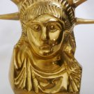 BEAUTIFUL VINTAGE SOLID BRASS STATUE OF LIBERTY BUST TAIWAN FIGURINE