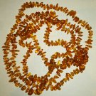"VINTAGE 56"" BALTIC GOLDEN AMBER STRAND BEADS NECKLACE"